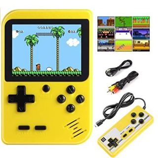 Diswoe Handheld Game Console, Portable Retro Game Player With 400 Classical FC Games