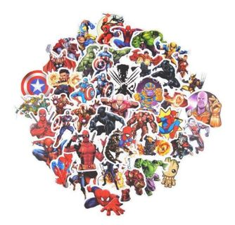 ONE RANDOM MARVEL COMIC STICKER WATERPROOF