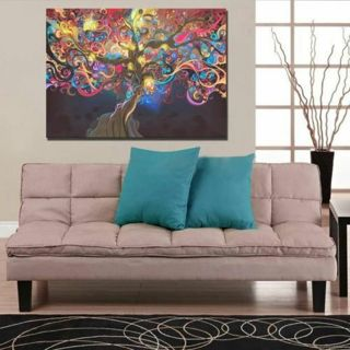 50*33CM Removable Trippy Tree Art Silk Cloth Poster Home Room Wall Decor Sticker