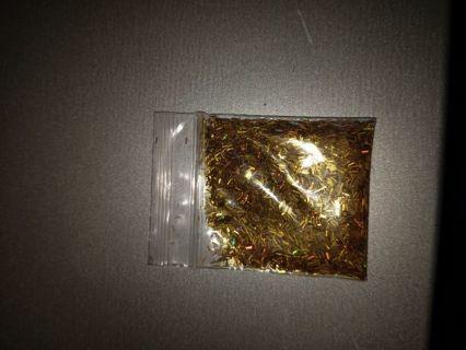 Gold nail baggie
