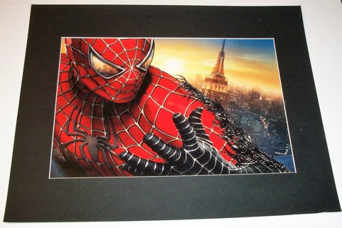 "Framed Spider-Man poster - size 15 1/2"" X 20"" - poster size 10"" X 15"" - VG condition"