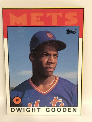 Dwight Gooden - 1986 Topps Box Bottom Panel # F - hard to find - EX condition