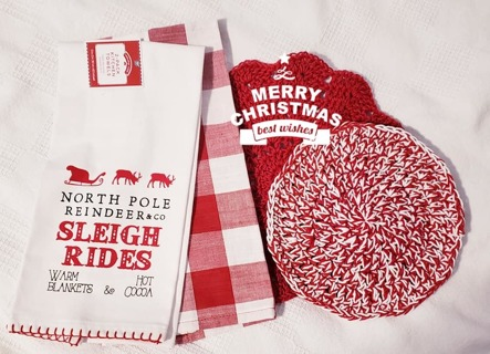 "Crochet 1 - 9"" Dish Cloth/Wash Cloths/2 Dish Towel/ 1 Hot pad"
