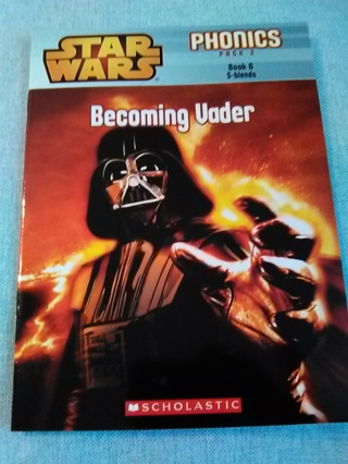STAR WARS PHONICS PACK 2 -- BECOMING VADER -- PAPERBACK BOOK -- EXCELLENT CONDITION!!