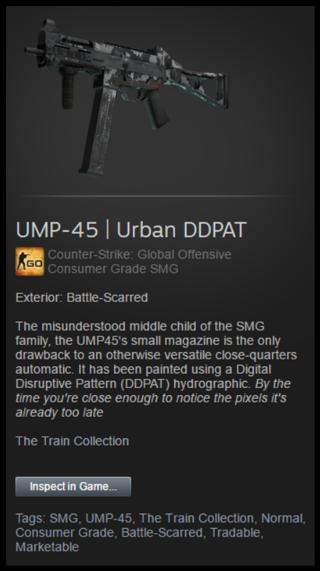 Free: CS:GO skin UMP-45 Urban DDPAT BS - Other Video Game
