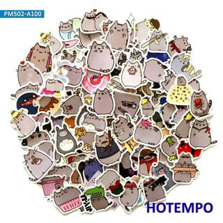 100pcs Cute Cartoon Fat Emoji Cats Stickers for Children Kids DIY Letter Diary Scrapbooking Mobile