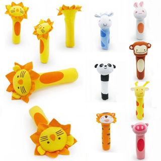 Animal handbells toys with soft sound for baby