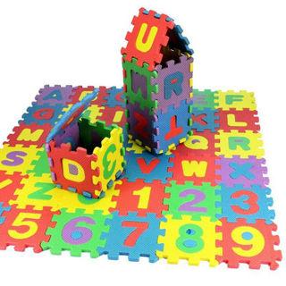 36 Pcs Soft EVA Foam Baby Kids Play Mat Alphabet Number