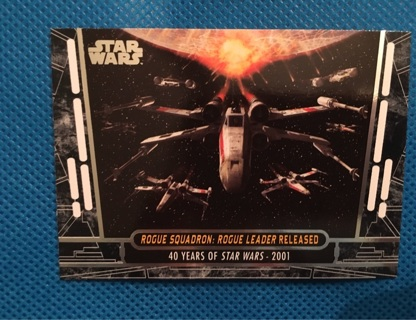 40 YEARS OF STAR WARS: ROGUE SQUADRON: ROGUE LEADER RELEASED CARD
