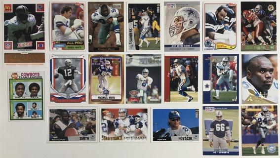 19 Dallas Cowboys Vintage 1970s 1980s, 1990s, 2000s Football Cards Randy White / Emmitt Smith