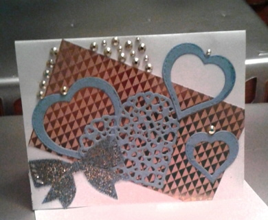 Blank Valentine Card with Envelope