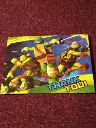 THANK YOU! POSTCARDS - TEENAGE MUTANT NINJA TURTLES
