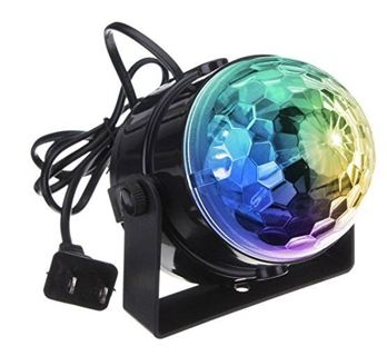 DJ light Sound Activated Party Lights Disco Ball - KINGSO Strobe Club lights Mini Led Stage Lights
