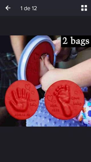 2 bags Baby Handprint Clay