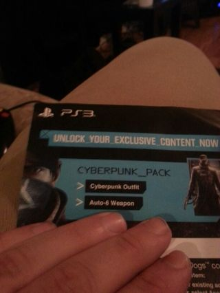 Free: PS3 cyberpunk_pack redeem code for watch dogs - Video Game