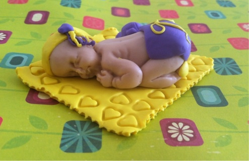 Polymer clay baby girl