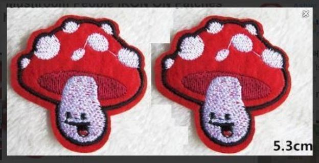 NEW Mushroom People IRON ON Patches Fungiculture Shroom APPLIQUE BADGES