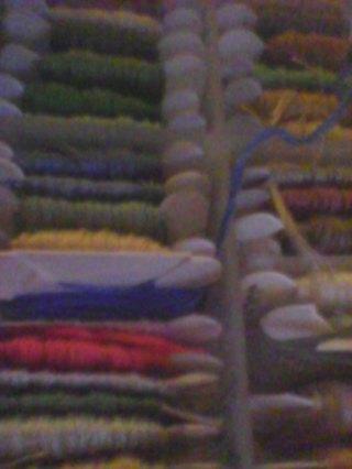 4 ramdom color stites treads