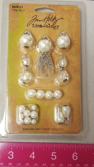 Brand New Package of Tim Holtz BAUBLES!