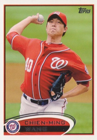 '12 Topps #440 Chien-Ming Wang - Nationals