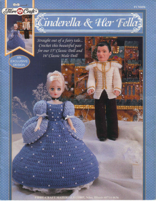 Free Fibre Craft Cinderella Her Fella Crochet Doll Outfit Pattern