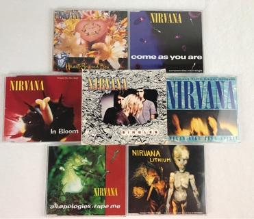 ✯Nirvana Singles Box with Bonus Tracks 6-CD Box Set 1995 Geffen Import ~ FREE SHIPPING✯