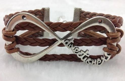 Bracelet Leather Infinity-NEW