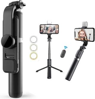Selfie Stick & Phone Tripod,MQOUNY