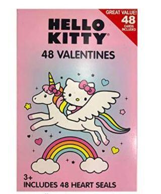 Hello Kitty 48 UnicornValentines Cards