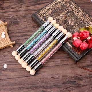 2PCs Dual-ended Gel Painting Nail Gradient Brush Nail Art Sponge Pen Manicure Tool