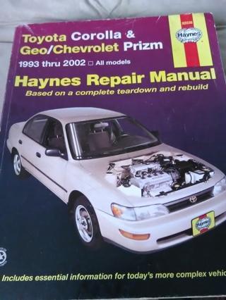 Toyota Corolla  & Geo Chevrolet Prizm  1993-2002