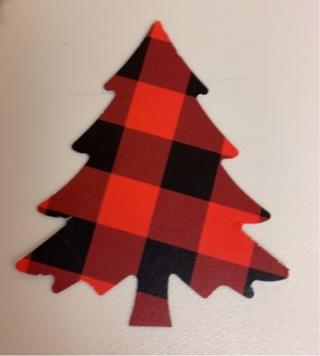 30 Buffalo Plaid Christmas  Tree  Cutouts