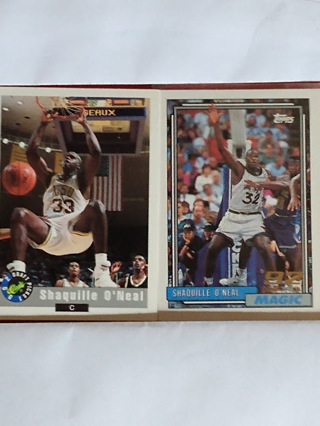 Shaquille O'Neal - 2 Card Rookie Lot