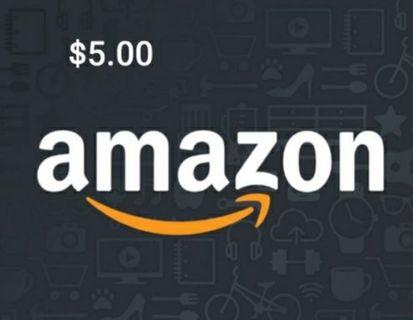 ☆ $5 Amazon E- gift card LOW GIN ☆