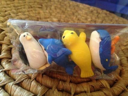 Kwazy Puzzle Erasers Sea Life Animals-1