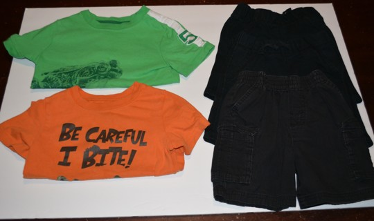Boys 2T Five (5) Piece Summer Clothes Lot Shirts Shorts