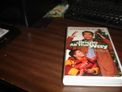 jingle all the way movie on vhs,exc cond.schwarzenegger.