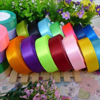 "25 Yards 1""(25mm) Satin Ribbon Wedding Party Craft DIY Hair Bow"