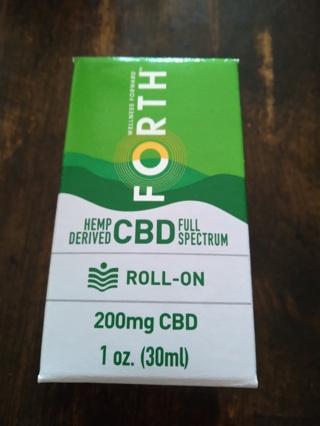 Forth CBD Roll-On (200mg CBD) Brand New