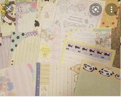 Kawaii Loose Letter Writing Sheets x 10