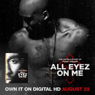 All Eyez On Me Bluray UV Digital Copy Code