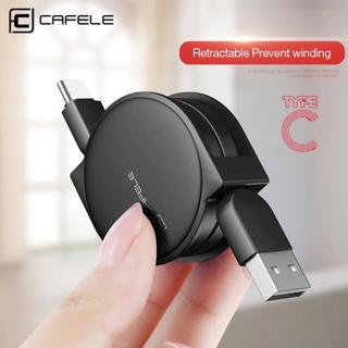 CAFELE Original USB Retractable Type c Cable USB Data Sync Charge Cable for samsung S8 huawei p9 p