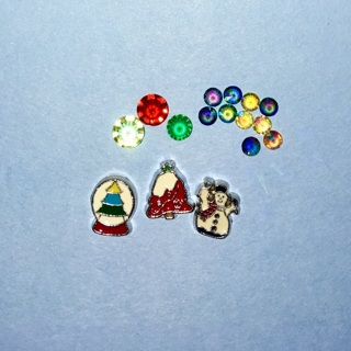 New Lot of Winter / Christmas Themed Floating Locket / Living Locket Charms.