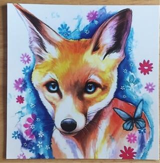 "BABY FOX - 4 x 3"" MAGNET"