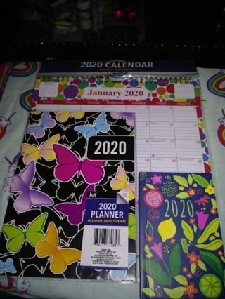 ⚛✨⚛✨⚛BRAND NEW 3 PIECE 2020 CALENDAR, PLANNER & ADDRESS BOOK BUNDLE⚛✨⚛✨⚛WINNER GETS ALL!