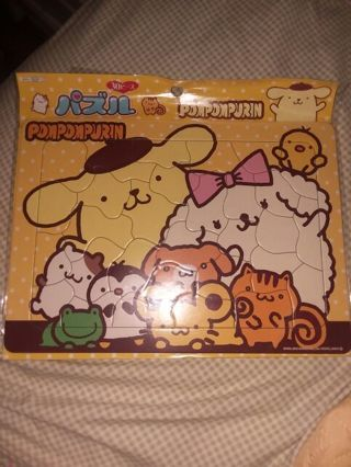 Kawaii Sanrio Licensed PomPomPurin 30 Pc. Puzzle+ BONUS Kawaii Grabbie