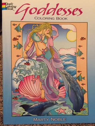 Goddesses adult coloring book by