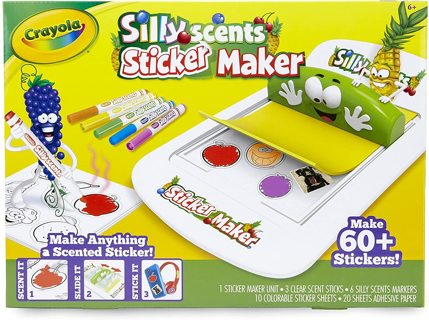 NEW! Crayola Silly Scents Sticker Maker, Gift for Kids, Ages 6 and Up