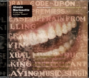Supposed Former Infatuation Junkie - Promo CD by Alanis Morissette
