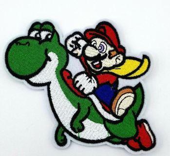 NEW Super Mario World Yoshi SNES 90s Vintage Retro Style Iron on Patch Applique